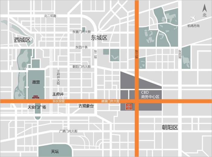 北京银泰中心地图