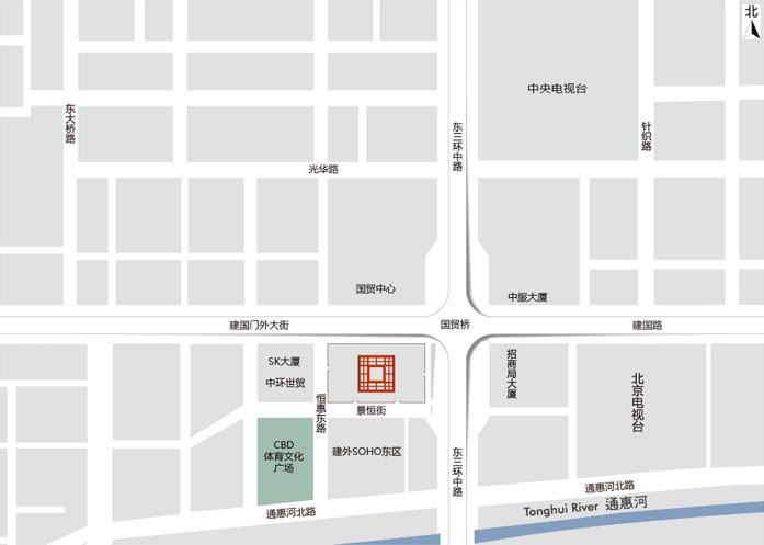 北京银泰中心_区域地图